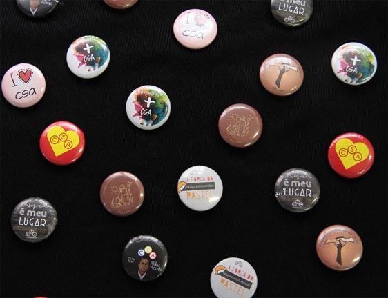 Primeira Coleção de Bottons do CSA