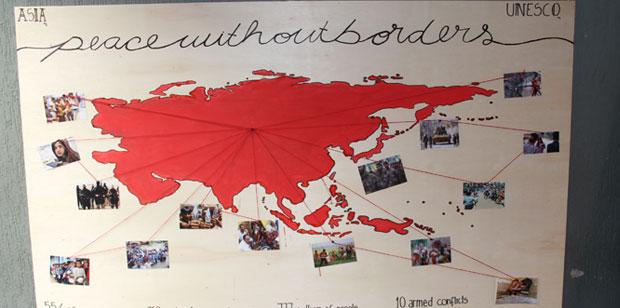 A exposição sobre o papel da UNESCO no mundo foi um sucesso
