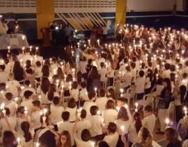 Renovação das promessas batismais no CSA