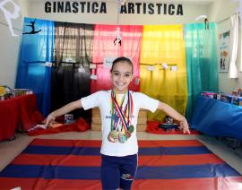 Aluna do CSA é destaque na Ginástica Artística