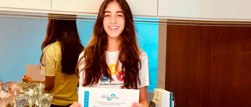 Aluna do CSA conquista o 2º lugar nacional em concurso da Embaixada da Espanha no Brasil