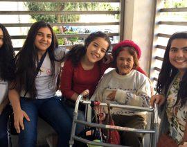 Alunas do CSA desenvolvem ação social em lar de idosos