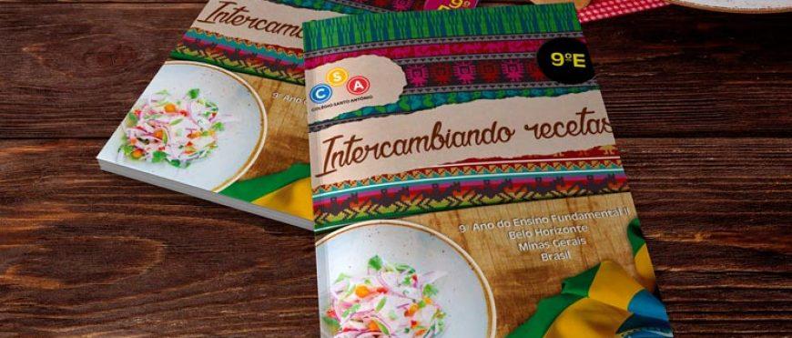 Alunos do CSA criam livros de receitas em espanhol