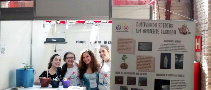 Alunos do CSA Avançado apresentam projetos científicos em evento na UFMG