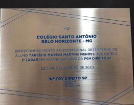 Sucesso reconhecido pela FGV Direito SP