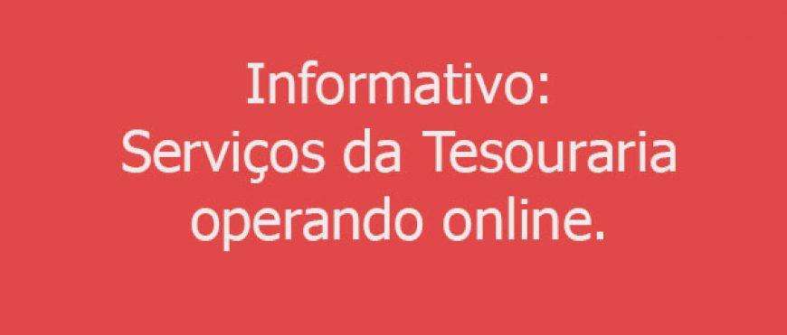 Serviços da tesouraria funcionando online